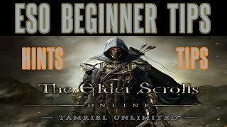 Elder Scrolls Online - Beginner Tips Hints Level Up Fast XP - Guide Strategy