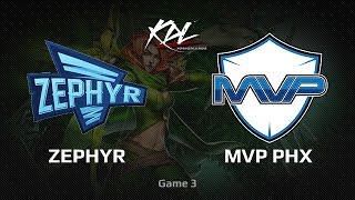 Zephyr vs MVP.Phoenix, Korea Dota 2 League, Grandfinal, game 3