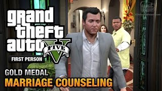 GTA 5 - Mission #6 - Marriage Counseling [First Person Gold Medal Guide - PS4]