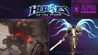 Heroes of the Storm (Альфа) - Тираэль в Haunted Mines (HD)