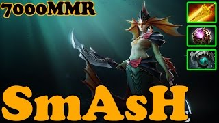 Dota 2 - SmAsH 7000 MMR Plays Naga Siren - Ranked Match Gameplay