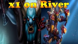 Dota 2 - x1 on river ! Shadow shaman vs Spirit breaker