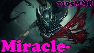 Dota 2 - Miracle- 7105 MMR Plays Phantom Assassin - Ranked Match Gameplay