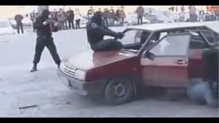 Атака ментов. Never Steal a Car in Russia xD LOL (Must watch)
