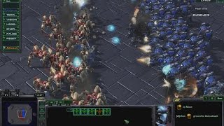 100 Dragoons vs 100 Goliaths | StarCraft 2