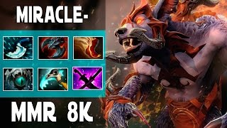 DOTA 2 MIRACLE-  URSA GAMEPLAY -  MMR 8K