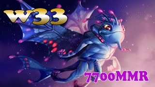 Dota 2 - w33 7700 MMR Plays Puck vol 1# - Ranked Match Gameplay