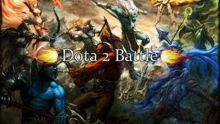 Dota 2 Battle Ursa vs Slark  (Урса против сларка)