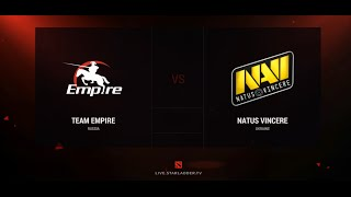 Team Empire vs Navi #1 - Dota 2 SLTV Starladder 12 Русские комментарии