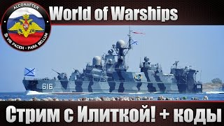 Стрим с Илиткой World of Warships! + 50 кодов ЗБТ!