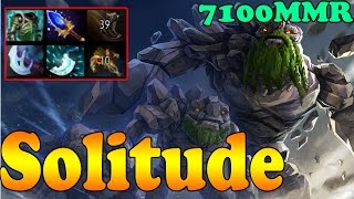 Dota 2 - Solitude 7100 MMR Plays Tiny Vol 3 - Ranked Match Gameplay!