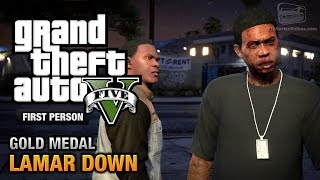 GTA 5 - Mission #70 - Lamar Down [First Person Gold Medal Guide - PS4]