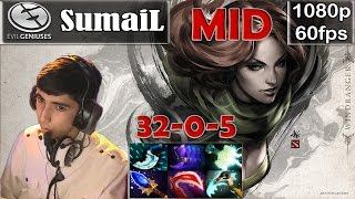 SumaiL (EG) - Windranger MID Pro Gameplay | 32 Kills 0 Deaths | MMR [Dota 2 Pro] @60fps