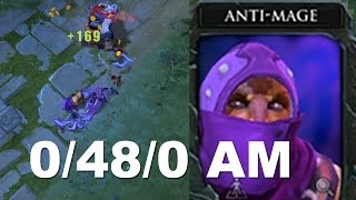 0/48/0 Tryhard Feeding 6000 MMR Anti-Mage Dota 2