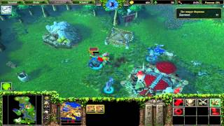 Warcraft III RoC 28 [Эльфы vs Люди и Орки]