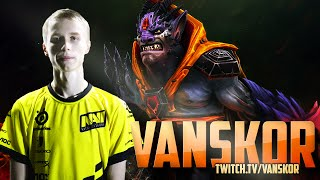 Dota 2 Stream: Na`Vi Vanskor - Lion (Gameplay & Commentary)