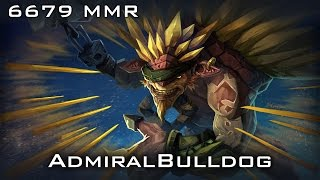 AdmiralBulldog Bristleback 6679 MMR | Ranked Gameplay Dota 2
