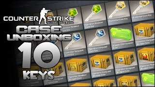 Counter-Strike: Global Offensive - Case Unboxing #1 - 10 Keys (Case Opening)