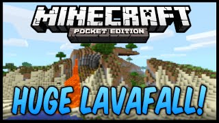 [0.9.5] Extreme Hills Seed w/ Lavafalls & Mushroom Biome - Minecraft Pocket Edition