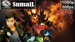 SumaiL (EG) - Shadow Fiend MID Pro Gameplay Dota 2 | MMR @60fps #2