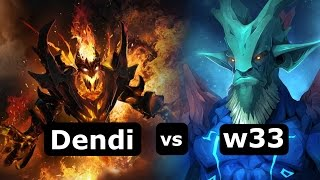 NaVi Dendi  shadow fiend  vs  Secret w33 Leshrac. Gameplay MMR Dota 2 Highlights