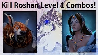 Dota 2 kill Roshan lvl 1 Combos #7 - Mirana and Ursa