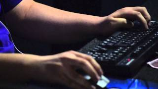 Starcraft 2 players at the Keyboard