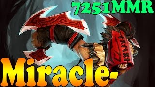 Dota 2 - Miracle- 7251 MMR Plays Bloodseeker Vol 1# - Ranked Match Gameplay!
