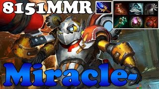 Dota 2 - Miracle- 8151MMR TOP 1 MMR in the World Plays Clockwerk  vol 2 - Ranked Match Gameplay