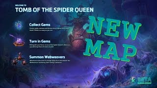 NEW MAP! Tomb of the Spider Queen - Heroes of the Storm gameplay (Gazlowe)