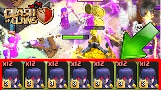 "Clash Of Clans | ""NEW"" MAX LEVEL 3 WITCH ARMY TROLL!!! MAX WITCH OVERLOAD! GEMMING MAX WITCHES"