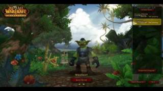 World of Warcraft Cataclysm Beta  - Goblin warrior gameplay part 1