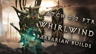 2.2 Whirlwind Barbarians - 3 Build Comparison, Diablo 3 Reaper of Souls PTR Showcase