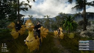FINAL FANTASY XV Chocobo Riding and Fishing Video