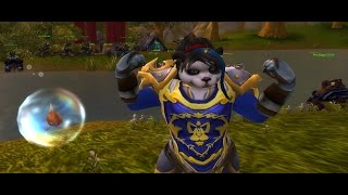 World of Warcraft - Female Pandaren Warrior Animations