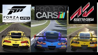 Forza Motorsport 6 Apex vs Project Cars vs Assetto Corsa | Graphics & Cars BIGGEST Comparison