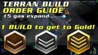 HotS Terran Beginner Build Order | Bronze - Gold all matchups | 15 Gas Expand