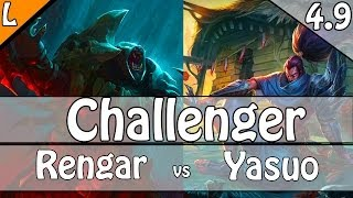 724: Ryan Choi as Rengar vs Yasuo Top - S4 Challenger Ranked Gameplay