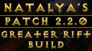 Diablo 3 - Demon Hunter Natalya's Best Build For GRs (RoS Patch 2.2.0)