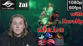 Zai (Secret) - Wraith King Safelane Pro Gameplay | with KuroKy (WR) | Dota 2 MMR @60fps