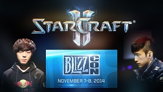 Starcraft 2. BlizzCon 2014 WCS Grand Final. Life vs MMA Game 1 (Русские комментарии Alex007)