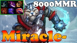 Dota 2 - Miracle- 8000 MMR Plays Tusk vol 2 - Ranked Match Gameplay