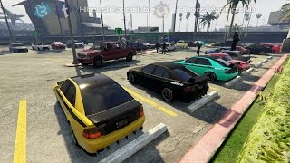 Grand Theft Auto V Online (PS4) | Karin vs Vapid Meet | Car Show, Airport Drags & More