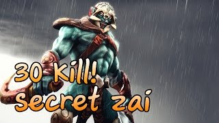 [Dota2] Team Secret zai Pro Huskar 30 Kill Rank MMR Game ( zai gameplay )