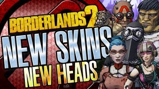 Borderlands 2 New DLC Skins and Heads Packs All Characters 1080p