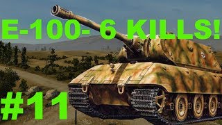 E-100 on Prokhorovka/6 Kills! (World of Tanks Xbox)