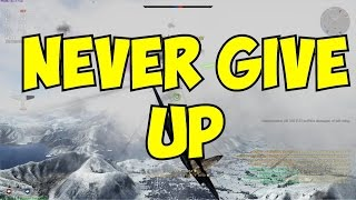 War Thunder: Never GIve up (lose a wingtip and keep on killin ppl)