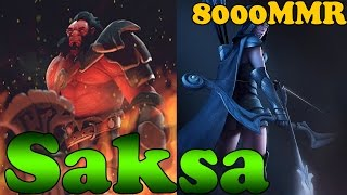 Dota 2 - Saksa 8000 MMR Plays Axe And Drow Ranger - Pub Match Gameplay!