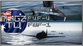 War Thunder - F4F-4 & F8F-1 - Realistic Battle
