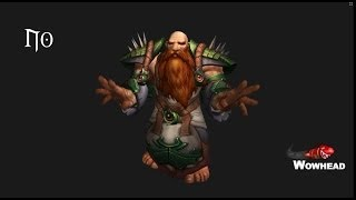 Warlords of Draenor Male Dwarf Animations